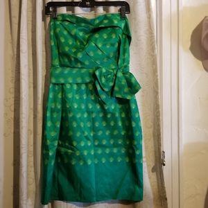 Kate Spade green strapless dress size 6